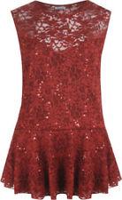 Vestidos de mujer sin marca color principal rojo encaje