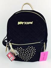 BETSEY JOHNSON Women's Convertible Quilted Black Zip Off Pouch Backpack NWT $118