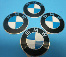 "4 Genuine Wheel Center Cap Emblems BMW OEM# 36136758569 70.0mm 2.7"" Adhesive DIY"