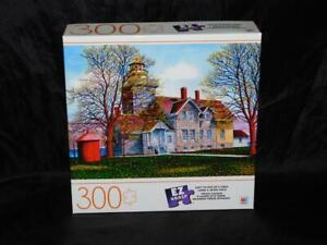 Somerset Lighthouse 300 Piece Jigsaw Puzzle NEW Milton Bradley EZ Grasp Building