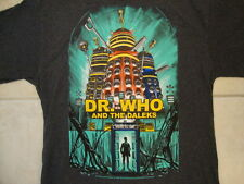 Dr. Who & The Daleks British Science Fiction Tv Show Picture Dark Gray T Shirt M