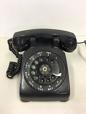 Vintage Western Electric Rotary Telephone Black Metal Rotary Desk Untested 1972