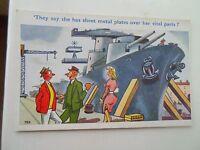Vintage Caricatura Tarjeta postal ENVIAR ATREVIDA HUMOR Artista Firmado TROW 789