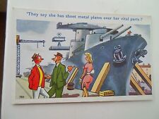 Vintage Comic Postcard NEW SHIP SAUCY HUMOUR Artist Signed TROW 789 Unused