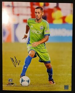 Clint Dempsey Seattle Sounders FC Autographed 16x20 Dribbling Photo -Steiner/COA