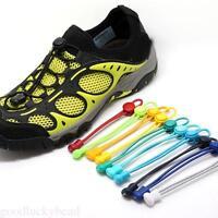 2X Multicolor Elastic No-Tie Quick Lock Shoelaces Sport Running Lazy Shoe Laces