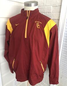 Nike Fit Southern Cal USC Trojans NCAA Half Zip Mens Nike Team Size Large L