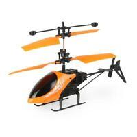Mini Metal Remote Control RC Helicopter GYRO Orange Gray Blue L3E5