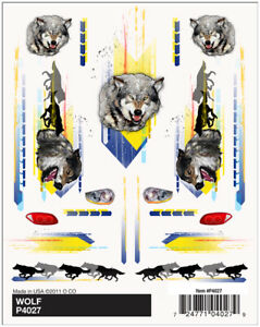 PineCar P4027 Dry Transfer Decal Wolf PIN4027
