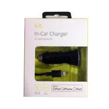 Kit: 2.1A Lightning conexión USB en Coche Cargador Para iPod iPad iPhone XS/8/7/6S