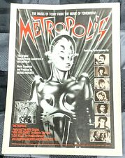 Freddie Murcury / 1984 Metropolis Movie Soundtrack Lp Magazine Print Ad + Dvd