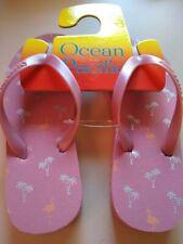 OP Ocean Pacific Girl's Flip Flop Sandals Various Sizes Pink printed