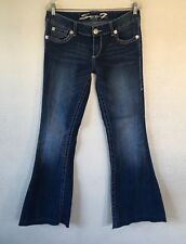 Women's Seven 7 Jeans Size 8 Actual 32 X 30 Flare Stretch Jeans ~ a21