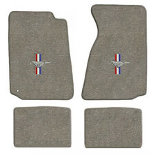 1994-2004 Mustang Coupe & Convertible 4pc Gray Floor Mats Set with V6 Horse Logo