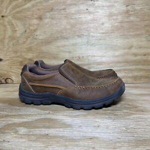 Skechers Men's Braver Rayland Slip On Shoes Size 8 Brown 64502 Memory Foam