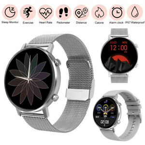 Women's Smart Watch Heart Rate Monitor Music Control for Samsung A11 A21 A41 A51