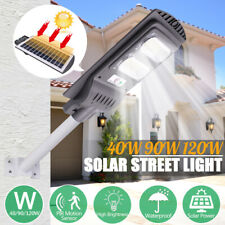 120W LED Solar Street Light Radar Sensor Light Control Outdoor Garden