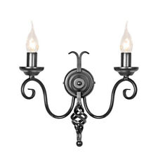 Elstead Harlech 2lt Wall Light Black 2 x 60W E14 220-240v 50hz Class I