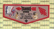 BSA OA LODGE 346 TANNU 2011 50 YEARS ANNIVERSARY LODGE FLAP