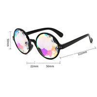 Round Kaleidoscope Glasses Rave Festival Plastic Sunglasses Eyewear 2019