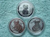 2018 Australian Silver Lunar Series II Colorized DOG 11//2 oz BU 2 coin set