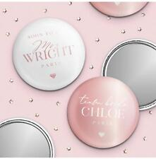 Team Bride Hen Party Pocket Mirror Rose Gold