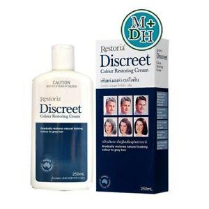12 x Restoria Discreet Hair Styling Cream Grooms Colour Restoring 150 ml.