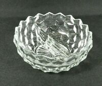 "Vintage Fostoria American Divided Bowl 5.5"" Clear Glass Cubes"