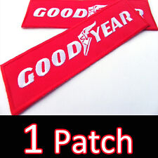 GOODYEAR Super Red Racing Advertising Iron On Patch Embroidered F1 Uniform DIY
