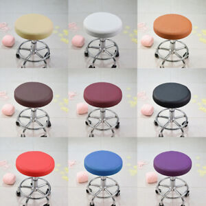 13'' Elastic Bar Stool Cover Round Chair Seat Slipcover Cushion Slip Cover