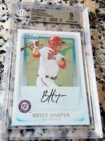 BRYCE HARPER 2011 Bowman #1 Draft Pick International SP Rookie Card RC BGS 9 9.5