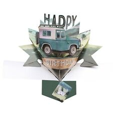 Birthday Card 3D Pop Up Card Land Rover Jeep