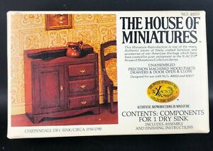 Vintage The House of Miniatures Chippendale Dry Sink Dollhouse Furniture 40019