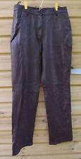 Principles Ladies Leather Trousers Pants Brown - UK 12 / Euro 40