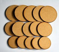 30 x 3mm MDF Wargame Round Circle bases 20mm 25mm 30mm 32mm 35mm 40mm 50mm 60mm