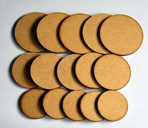 30 x 2mm MDF Wargame Round Circle bases 20mm 25mm 30mm 32mm 35mm 40mm 50mm 60mm