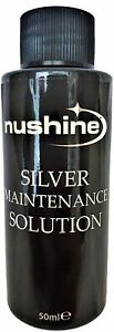 NUSHINE SILVER CLEANING MAINTENANCE SOLUTION 50MLS - RENOVATE YOUR SILVER PLATE