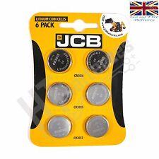 JCB Multi Pack of 6 Batteries 2 x CR2032, 2 x CR2025, 2 x CR2016 Lithium cell
