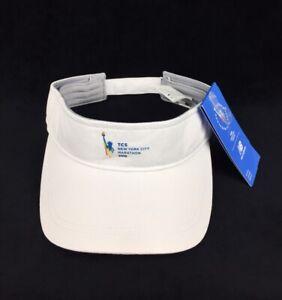 NEW New Balance TCS New York Marathon 2019 White Performance Visor Hat Cap NWT