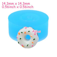 TEB001 14.3mm Donut Doughnut Silicone Mold Miniature Food Pendant Resin Baking