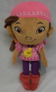 "Disney Store Jake and Neverland Pirates IZZY PIRATE 13"" Plush Stuffed Animal NEW"