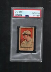 1921 W551 Babe Ruth Hand cut PSA authentic