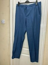 NEW Marks and Spencer Mens Navy Tailored fit Formal Trousers - W36 x L33 inches