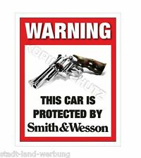 Smith & Wesson Adesivo Auto US Cars Messa punto Motociclista Rocker Racing Moto