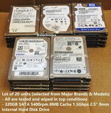 "Lot of 20 Major Brands 320GB SATA 5400rpm 8MB Int 2.5"" Laptop HDD - Express Mail"
