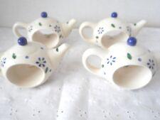 PFALTZGRAFF Cloverhill Pattern Teapot Napkin Rings Set of 4
