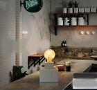 Modern Simple 1 Light Width 13cm Gypsum Bedroom Decoration Table Light/Lamp #
