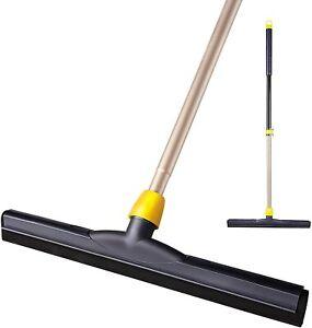 Floor Squeegee Scrubber 54in Long Adjustable Pole Heavy Duty Household Broom
