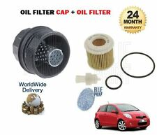 FOR TOYOTA YARIS 1.8 SPORT 2006-12/2010 NEW OIL FILTER + FILTER PLASTIC CAP