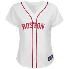 $80 BOSTON RED SOX MAJESTIC WOMEN'S REPLICA WHITE JERSEY NWT